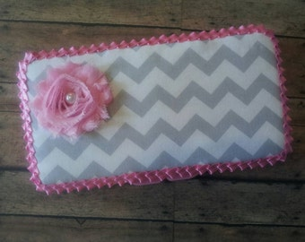 Chevron Baby wipe case, cover wipe case.