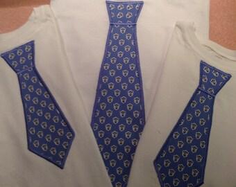Neck Tie Appliqué Shirt Set | Hand-made