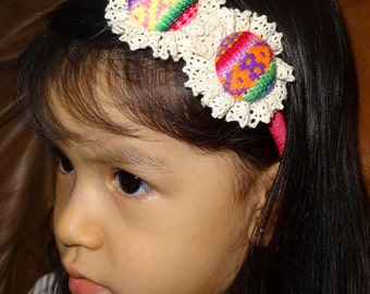Handmade Peruvian Headband for girls.
