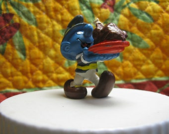 20177 Thanksgiving Smurf Made In Portugal schtroumpf schlumpf vintage Peyo 1982 CONDITION: VERY GOOD