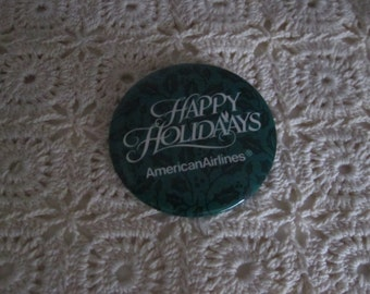 American Airlines Happy Holidays button