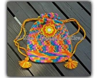 Crochet children pouch, crochet backpack, crochet pouch, backpack, crochet girl backpack, crochet boys backpack, backpack, made-to-order
