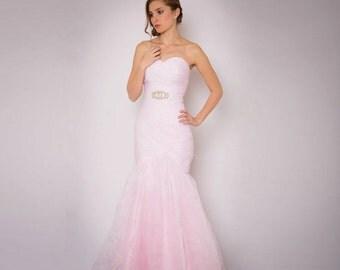 Pink Blue Wedding Dress_Wedding Dresses_dressesss