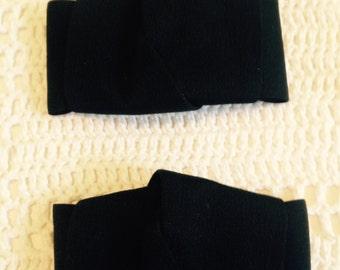 Black Vintage Shoe Clips
