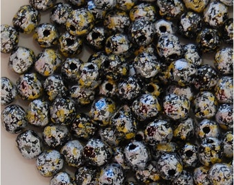 FIRE POLISH BEADS, 4mm, Tweedy Yellow, sold in units of 200
