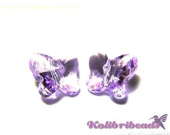 2x Swarovski 5754 Butterfly 8 mm - Violet