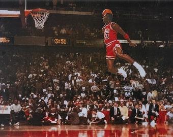Michael Jordan MVP Chicago Bulls Slam Dunk All star Game  poster print 24 x 36