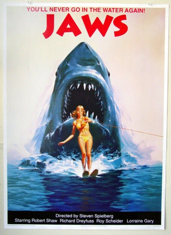 JAWS Poster Wall Art Decor Vintage JAWS Movie Poster JAWS 2