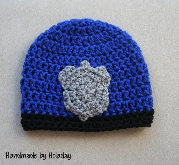 Crochet Police Hat Policeman Beanie Police Badge Hat