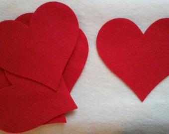 Large die cut felt hearts