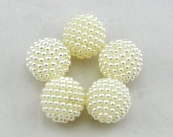 Pearl Rhinestone Beads | 10 pieces | 20mm | Gumball Beads | Neklace Beads | Pearl Berry Beads | DIY Beads  ---G1683