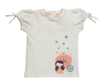 Princess Baby Girl TShirt, Cinderella Baby Girl tee, Cute Baby Girl Tee, Baby Girl Clothes, Baby Graphic Tee