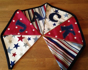 Personalised Stars, Stripes and Spots Bunting