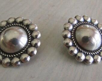 Sterling Silver Domed Post Earrings