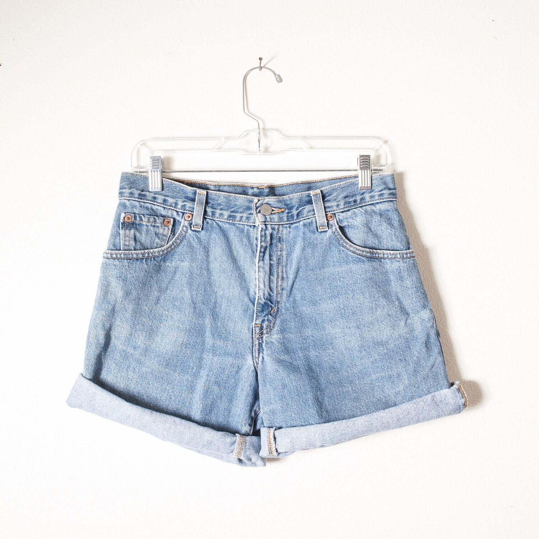 vintage high waisted shorts levis shorts denim shorts. Black Bedroom Furniture Sets. Home Design Ideas