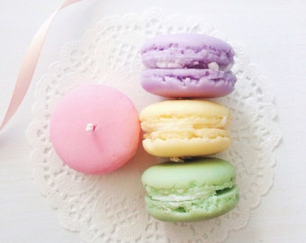 Macaron soy candle - scented macaron candle 5 gift pack