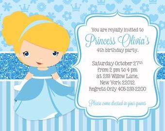 Cinderella Invitation, Cinderella Party Invitation, Princess Party, Cinderella Birthday, PRINTABLE INVITATION
