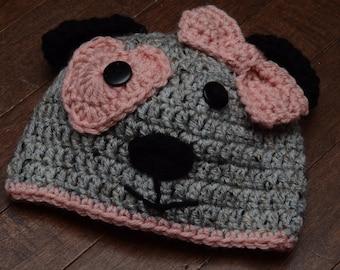 Crochet Puppy Girl Hat