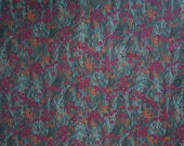 "Hold for Greta - Fantasies Fabric - Hoffman International - Grass and Flowers - 100% Quilters Cotton - 34"" x 44"" ONLY"