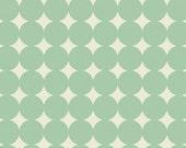 CLEARANCE - 1/2 Yard - Heather Bailey / TRUE COLORS / Mod Dot in Aqua / Polka Dot / Free Spirit Fabrics