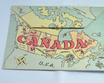 Post cards Booklet Canada 1940 Vintage Pictures Post Card Paper Ephemera