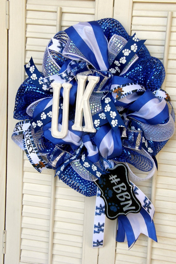 Kentucky Wildcats Wreath Big Blue Nation Uk Wildcats