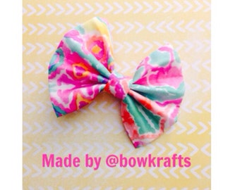 Rainbow watercolour bow