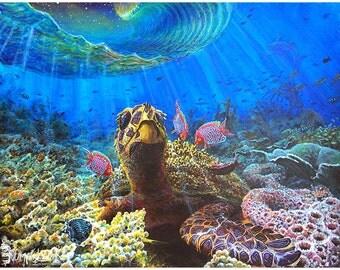 """Small or Medium Poster of """"""""Ocean Survivor"""""""