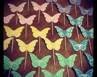 Spring Butterfly Cupcake Toppers