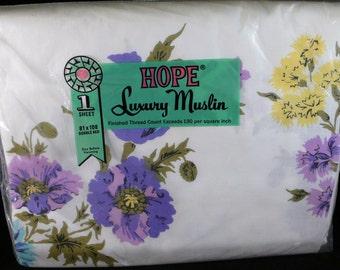 Vintage Hope Summer Garden Luxury Muslin Double/Full Top Sheet