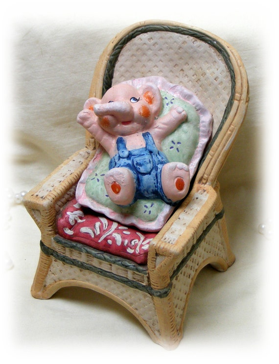 ELEPHANT in a CHAIR Figurine