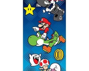 """Super Mario """"Repeat Champion"""" Beach Towel Personalized"""