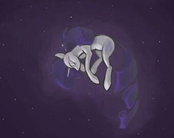 My Little Pony - Limbo Rarity Print