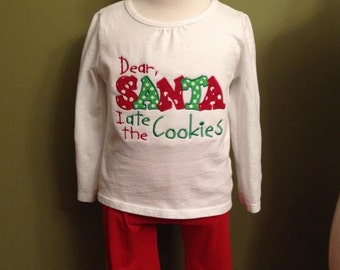 Christmas Monogrammed Applique Onesies/Shirts