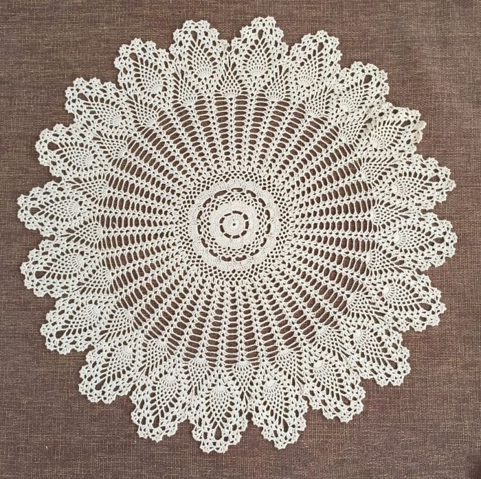 Hand Crochet Pattern Table Cover Handmade Coffee Table Cover