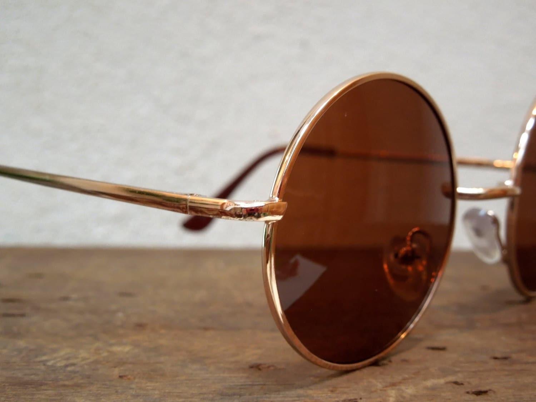 Eyeglass Frames North Little Rock : JOHN LENNON with brown glasses and golden color frame ...