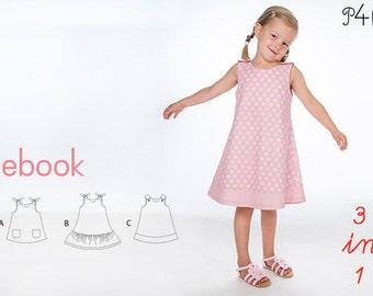 Baby pinafore dress pdf sewing pattern, tunic dress pattern, Girl, summer dress, flowergirl, sleeveless, ebook