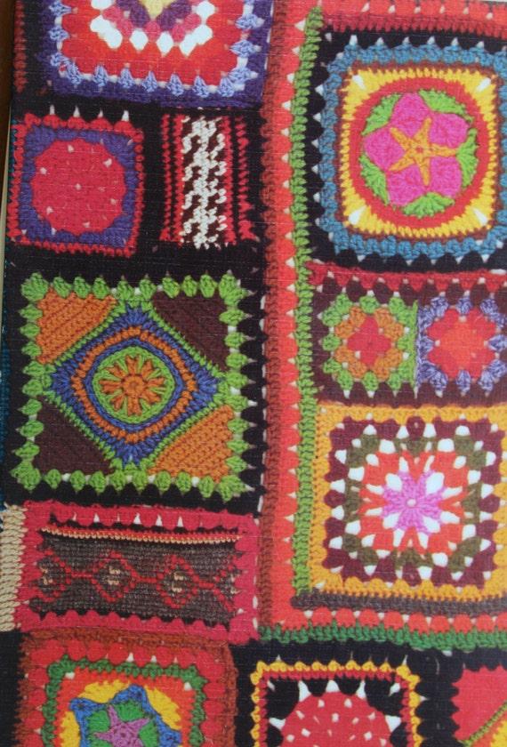 Book Cover Crochet Quilt Pattern ~ Crochet blanket pattern vintage s granny square