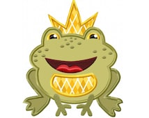 Frog Prince Applique Machine Embroidery DESIGN NO. 424
