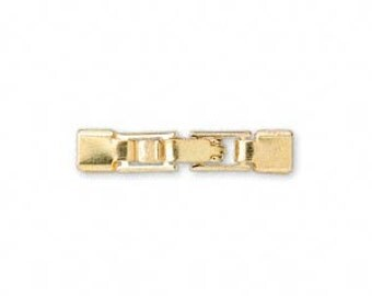 Fold Over Leather Watch / Bracelet Clasp 24x4mm - Gold - Pack 3