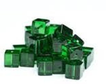 Glass Cubes - Crystal AB - Pack 50 - 4mm