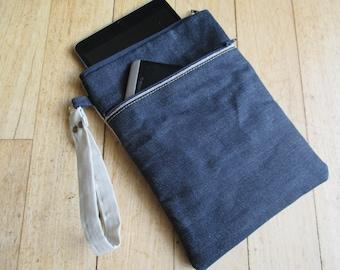 Raw Japanese Selvage Denim iPad Mini or Kindle bag