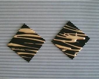 Black and Bronze Splatter Earrings