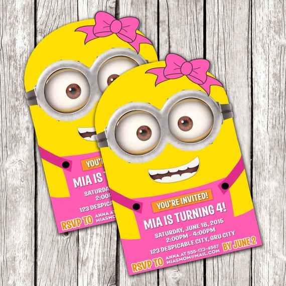 Diy Minion Invitations with amazing invitations example