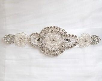 Bridal Sash Belt, Wedding Dress Sash Belt, Rhinestone Bridal Bridesmaid Sash Belt, Wedding dress sash