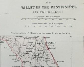 Blackie 1882 Antique Map - North America, USA, United States, New England, Atlantic States