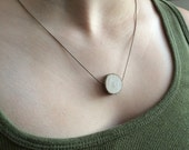 Ultra Thinline Delicate Essential Oil Diffuser Necklace Made with Untreated Wood -- FREE SHIPPING