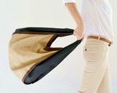 Burlap bag / Handmade shoulder bag / Beach bag / Weekend bag / Natural colored burlap