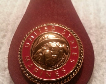 USMC Key Ring. Choices are Chesty the bulldog, RGB, USMC gold/silver or silver.