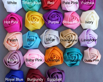 5 Silk Rolled Rose Flower Rolled Rosette Satin Rolled Rose Flower Fabric Flower Bride Hair Accessory Free Shipping 20USD SF998